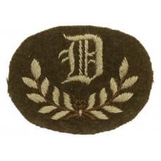 British Army 'D' Class Tradesman Cloth Arm Badge