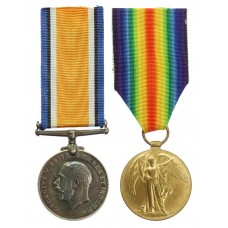WW1 British War & Victory Medal Pair - Pte. A.H. Giles, Rifle