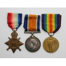 WW1 1914-15 Star Medal Trio - Pte. H. McI. Paterson, Royal Highlanders (Black Watch)