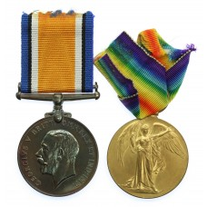 WW1 British War & Victory Medal Pair - Pte. A.H. Woodrow, Eas