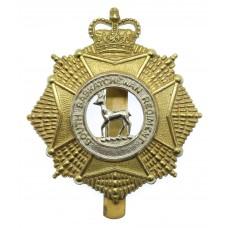 Canadian South Saskatchewan Regiment Cap Badge - Queen's Crown