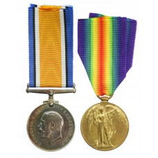 WW1 British War & Victory Medal Pair - Cpl. J. Bowyer, Glouce
