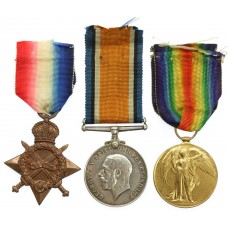 WW1 1914-15 Star Medal Trio - Pte. L.E. Trussell, Royal Army Medi