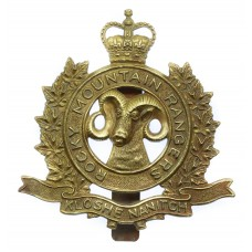 Canadian Rocky Mountain Rangers Cap Badge - Queen's Crown