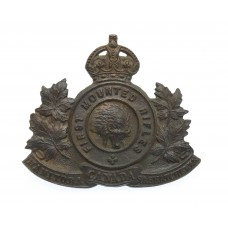 Canadian First Mounted Rifles C.E.F. WWI Cap Badge