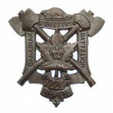 Canadian 224th (Canadian Forestry Battalion, Ottawa) Infantry Bn. C.E.F. WWI Cap Badge