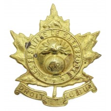 Canadian Les Fusiliers de Sherbrooke Cap Badge - King's Crown