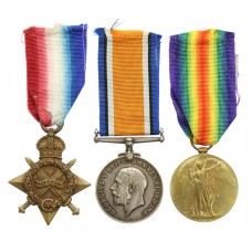 WW1 1914-15 Star Medal Trio - Pte. J.H. Mullingan, Manchester Reg