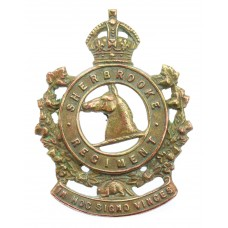 Canadian Sherbrooke Regiment Cap Badge - King's Crown