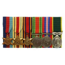 WW2 Chindits Territorial Efficiency Medal Group of Six - Pte. G.