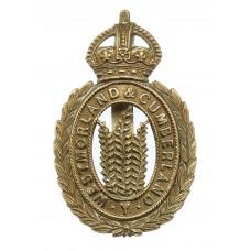 Westmorland & Cumberland Yeomanry Cap Badge - King's Crown