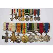 WW1 Mesopotamia Military Cross, 1914 Mons Star Trio (MID), 1908 IGS (Clasp - North West Frontier 1930-31), 1936 IGS (Clasp - North West Frontier 1936-37), 1935 Jubilee and 1937 Coronation Medal Group of Eight with a Quantity of Original Documents - Colonel C.H.N. Baker, Indian Medical Service