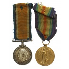 WW1 British War & Victory Medal Pair - Pte. F. Jury, 17th (Ro