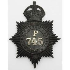 Metropolitan Police 'P' Division (Camberwell) Helmet Plate - King's Crown
