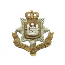 East Surrey Regiment Beret Badge - Queen's Crown