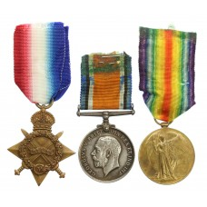 WW1 1914-15 Star Medal Trio - Dvr. H. Haxwell, Royal Field Artill