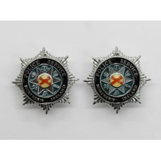Pair of Northern Ireland Police Service Enamelled Collar Badges