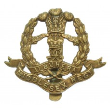 Middlesex Regiment WWI All Brass Economy Cap Badge
