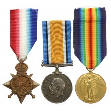 WW1 1914-15 Star Medal Trio - Pte. F.J. James, East Yorkshire Reg