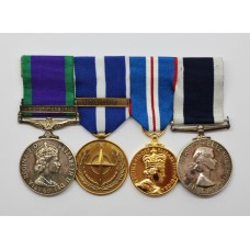 Campaign Service Medal (Clasp - Air Operations Iraq), NATO Medal (Kosovo), Golden Jubilee & Royal Navy LS&GC Medal Group of Four - LCH. R.I. Wharf, Royal Navy