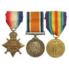 WW1 1914-15 Star Medal Trio - Pte. J. Dunlevy, Royal Warwickshire