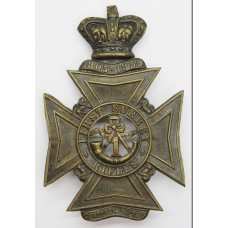 Victorian First Surrey Rifles Helmet Plate