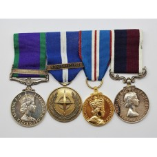 Campaign Service Medal (Clasp - Air Operations Iraq), NATO (Non Article 5), 2002 Golden Jubilee and RAF Long Service & Good Conduct Medal Group of Four - Sgt. A.C. Hutchinson, Royal Air Force