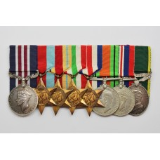 WW2 Military Medal and Territorial Efficiency Medal Group of Eight - Gnr. J.E. Watkins, 90th Field Regt Royal Artillery