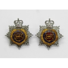 Pair of Royal Army Service Corps (R.A.S.C.) Officer's Collar Badg