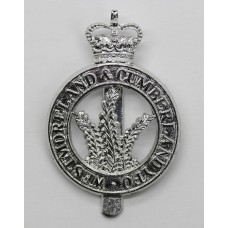 Westmoreland & Cumberland Yeomanry Anodised (Staybrite) Cap Badge - Queen's Crown