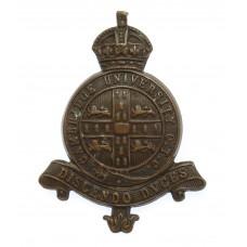 Cambridge University O.T.C. Cap Badge - King's Crown
