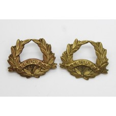 Pair of Pre 1881 57th (West Middlesex) Regiment of Foot Collar Badges (Miss-Matched)