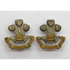 Pair of South Lancashire Regiment (Prince of Wales's Volunteers) Officer's Dress Collar Badges