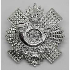 Highland Light Infantry (H.L.I.) Anodised (Staybrite) Cap Badge - King's Crown