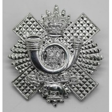 Highland Light Infantry (H.L.I.) Anodised (Staybrite) Cap Badge - Queen's Crown