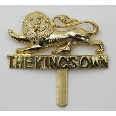 King's Own (Royal Lancaster) Regiment Anodised (Staybrite) Cap Badge