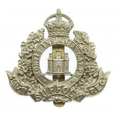 3rd (Cambridgeshire) Volunteer Bn. Suffolk Regiment Cap Badge - K