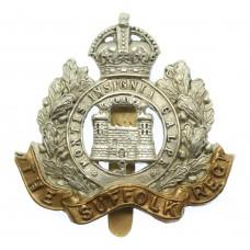 Edwardian Suffolk Regiment 'Two Tower' Cap Badge
