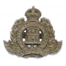 Suffolk Regiment WW2 Plastic Economy Cap Badge
