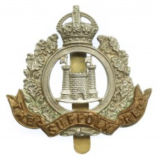 4th Bn. Suffolk Regiment Cap Badge - King's Crown