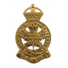 Canadian Royal Montreal Regiment Cap Badge - King's Crown