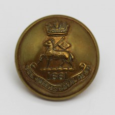 Queen's Royal (West Surrey) Regiment Officer's Button (Large)