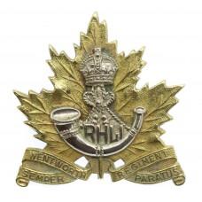 Canadian Wentworth Regiment Cap Badge - King's Crown