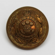 The Welsh Regiment Officer's Button - King's Crown (Large)