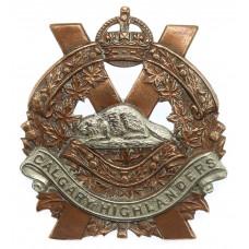 Canadian Calgary Highlanders Cap Badge - King's Crown