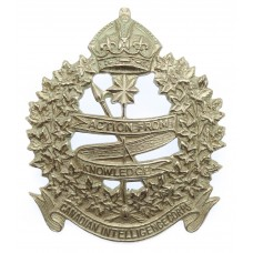 Canadian Intelligence Corps Cap Badge - King's Crown