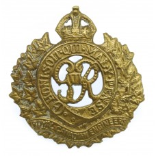 George VI Royal Canadian Engineers Cap Badge