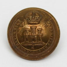 Northamptonshire Regiment Officer's Button - King's Crown (Large)