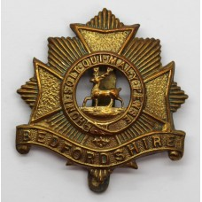 Bedfordshire Regiment WW1 All Brass Economy Cap Badge