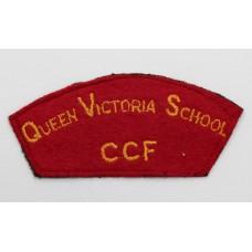 Queen Victoria School Combined Cadet Force (QUEEN VICTORIA SCHOOL / C.C.F.) Cloth Shoulder Title